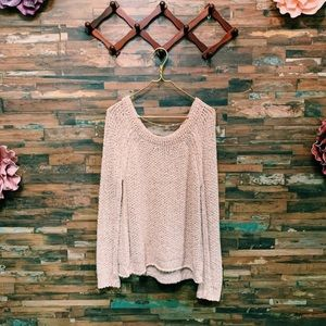 FREE PEOPLE | Dusty Pink Chunky Knit Sweater | L